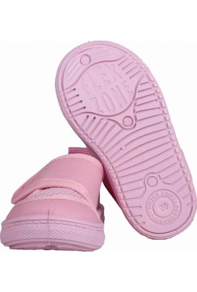 Sanbe 401 R 002 Anatomik Kız Erkek Çocuk Keten Sandalet Ayakkabı Pembe