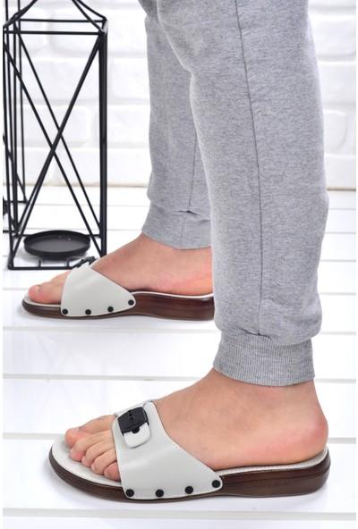 Ceyo 6300 Minelli Günlük Erkek Terlik Ayakkabı Bej