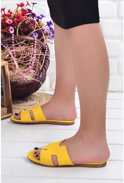 Ayakland Wizyon 01 Günlük Kadın Terlik Sarı