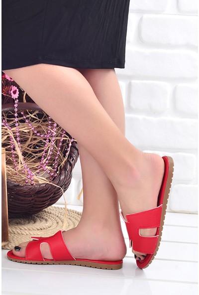 Ayakland Wizyon 01 Günlük Kadın Terlik Kırmızı