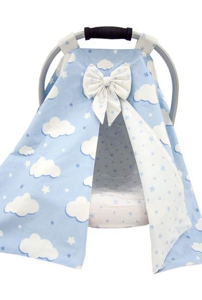 Modastra Mavi Bulut Tasarım Puset Örtüsü ve Çarşafı