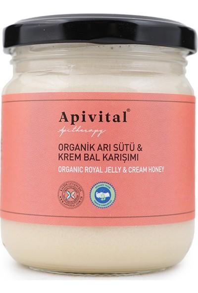 Apivital Organik Arı Sütü & Krem Bal Karışımı 220 g