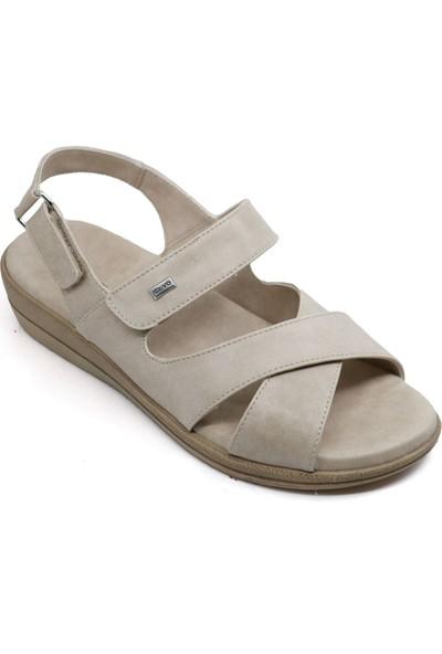 Ceyo 9863-12 Cırtlı Kadın Sandalet