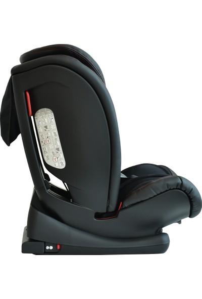 Kraft Techno Fix İsofixli Oto Koltuğu 9-36 kg - Siyah Deri