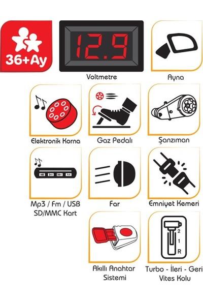 Pilsan Snappy 12V Akülü Araba / Kırmızı