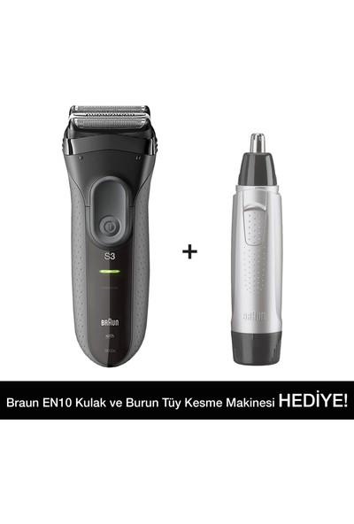 Braun 3 Serisi 3000VS Tıraş Makinesi + EN10 Kulak Burun Tüy Alma Makinesi
