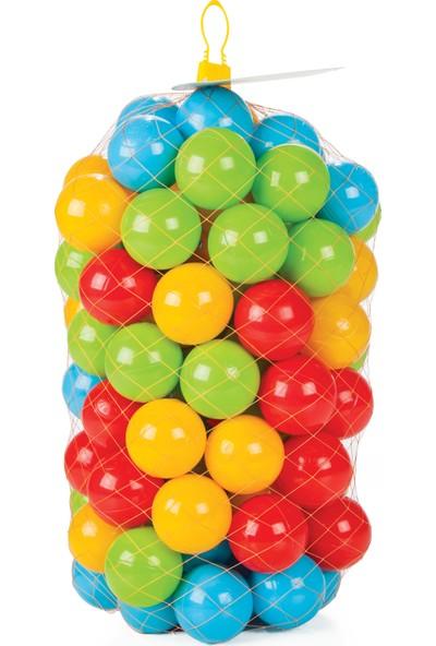 Vardem Kaydıraklı Oyun Seti (Mavi Havuz / 6 cm 100'lü Oyun Havuz Topu / Pompa / Kırmızı Kaydırak)