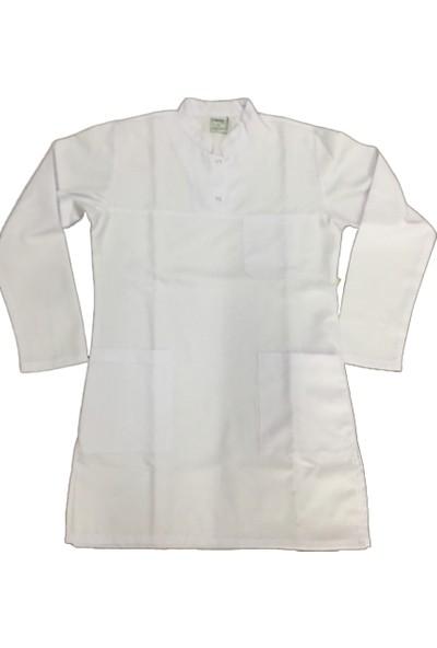 Palmiye Üniforma Beyaz Tesettür Hemşire Veteriner Forması