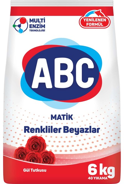Abc Matik Gül Tutkusu Toz Deterjan 6 kg