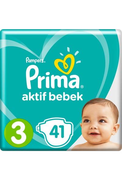 Prima Bebek Bezi Aktif Bebek 3 Beden 41 Adet Midi İkiz Plus Paket