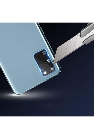 KNY Samsung Galaxy S20 Kamera Koruma Cam Ekran Koruyucu Şeffaf