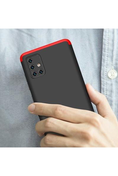 KNY Samsung Galaxy A71 Kılıf 3 Parça 360 Ays Kapak + Nano Cam Ekran Koruyucu Siyah