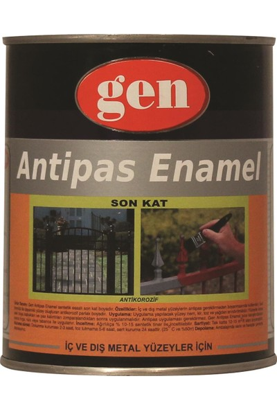 Gen Antipas Enamel Antipas + Astar + Son Kat Boya 1 kg 0101 Beyaz
