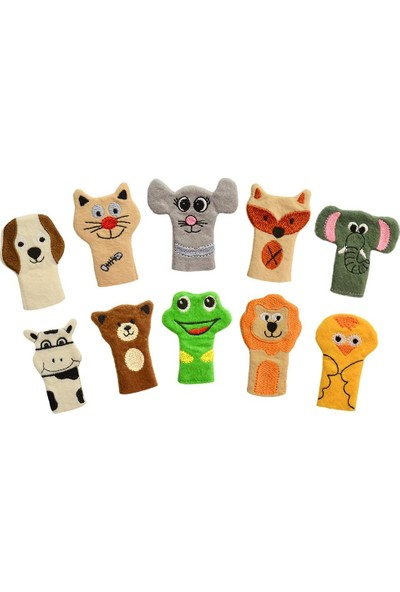 Anki Toys Ankitoys Parmak Kukla Seti Hayvanlar 10'lu