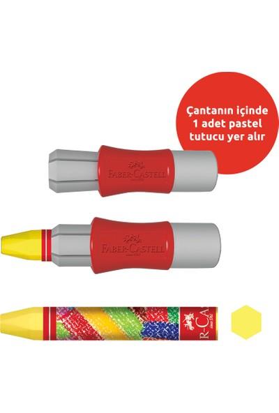 Faber-Castell Plastik Çantalı Tutuculu Pastel Boya 18 Renk