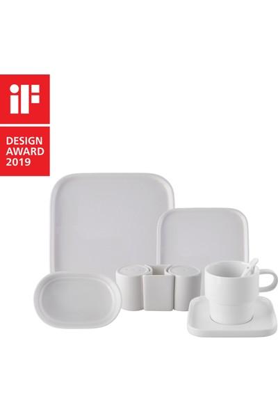 Karaca Cubique 35 Parça 6 Kişilik Porselen Kahvaltı Takımı