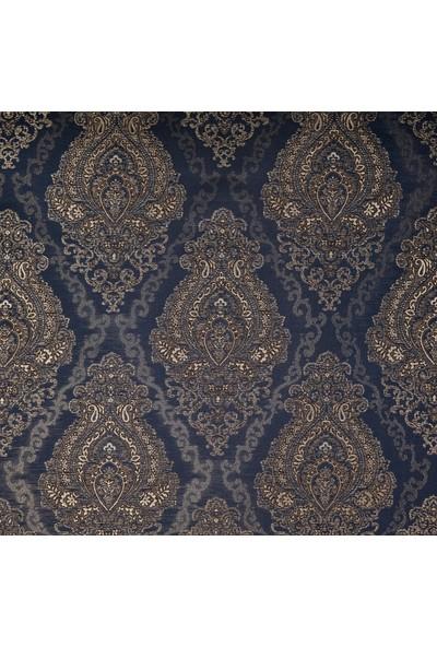Ata Exclusive Fabrics Varak Serisi Simli Damask Desenli Saten Döşemelik Kumaş 1 m