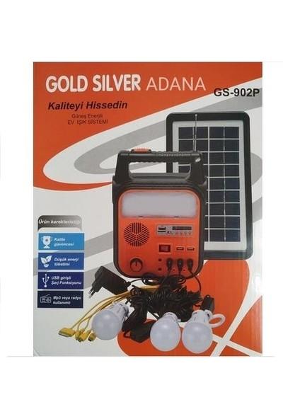 Gold Silver Gs - 902P Güneş Enerjili Ev Işık Sistemi