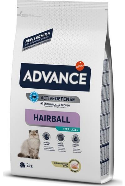 Advance Sterilize Hairball Hindili Kısırlaştırılmış Kedi Maması 3kg