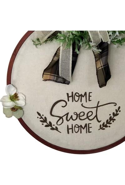 Db Handmade Arts & Crafts Home Sweet Home Kapı Süsü / Çelengi 30 cm