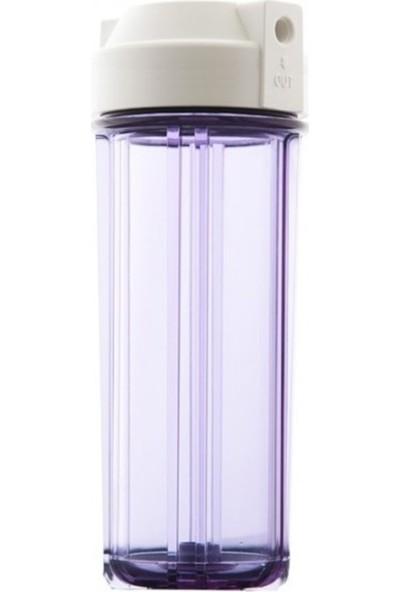 "Sulook Su Arıtma Filtre Kabı 10"" Çift O-Ring Şeffaf"