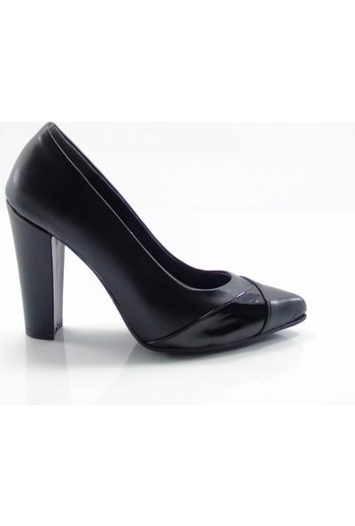 By Ercan 2960 Siyah Stylish Topuklu Kadın Ayakkabı