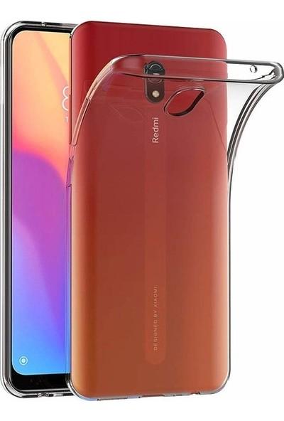 Herdem Xiaomi Redmi 8A Kılıf Süper Silikon Şeffaf