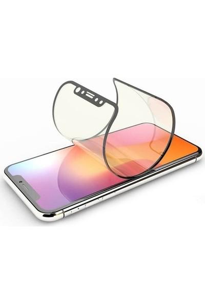 Herdem General Mobile GM8 Ekran Koruyucu Tam Kaplayan Esnek Fiber Nano Beyaz