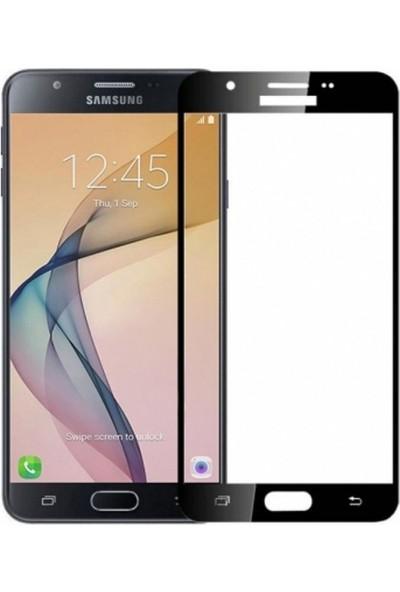 Herdem Samsung Galaxy J7 Prime Ekran Koruyucu Tam Kaplayan Esnek Fiber Nano Siyah
