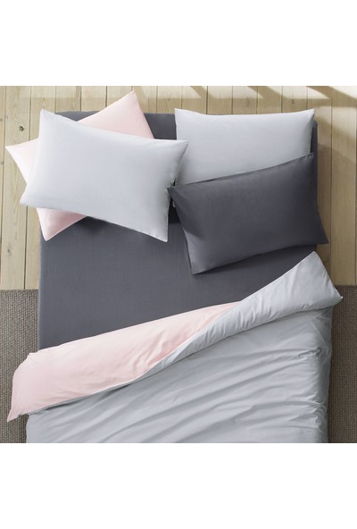 Yataş Bedding Aria Standart Yastık Kılıfı 2'li (50X70 Cm) - Antrasit