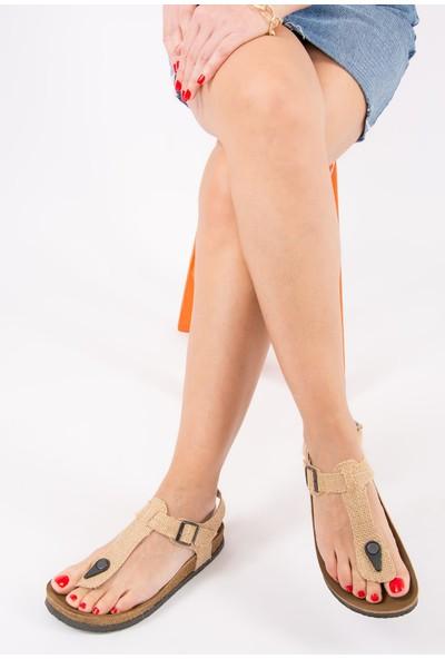 Fox Shoes Bej Kadın Sandalet B777805017