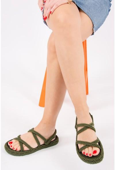 Fox Shoes Haki Kadın Sandalet H596011704