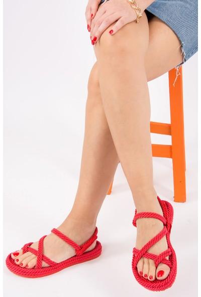 Fox Shoes Kırmızı Kadın Sandalet H596111604