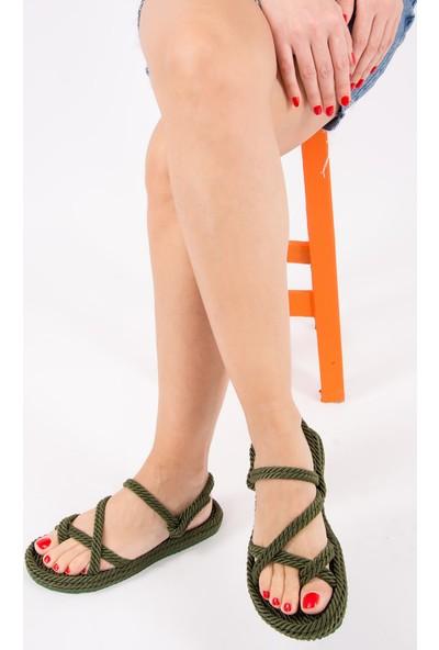 Fox Shoes Haki Kadın Sandalet H596111604