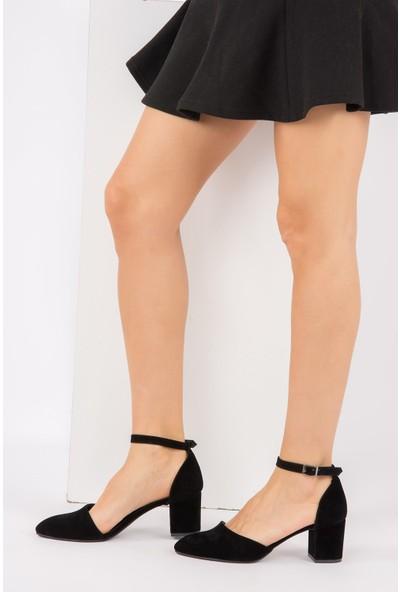 Fox Shoes Siyah Kadın Topuklu Ayakkabı H303370802