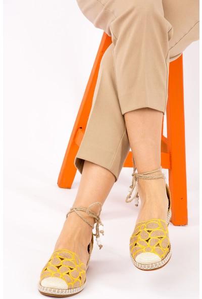 Fox Shoes Sarı Kadın Ayakkabı H551030017