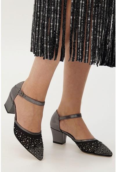 Marjin Kadın Edol Topuklu Abiye Ayakkabı