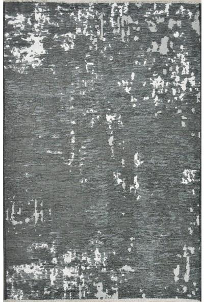 Crea Çift Taraflı Gri Antrasit Yıkanabilir Kilim - HS93520