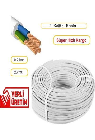 Deparsistem 3 x 2,5 mm Çok Telli Cca Ttr Kablo 50 Metre