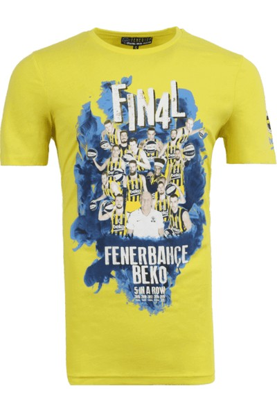 Fenerbahçe Erkek Sarı Basket Final 4 Takım T-Shirt