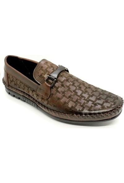 Pabucchi 002 Erkek Kahverengi Kemerli Çarık Model Yazlık Ayakkabı