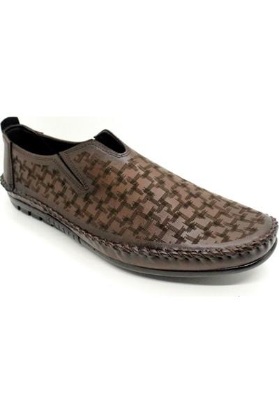 Pabucchi 003 Erkek Kahverengi Çarık Model Yazlık Ayakkabı