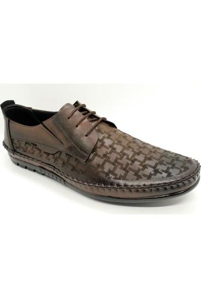 Pabucchi 007 Erkek Kahverengi Çarık Model Yazlık Ayakkabı