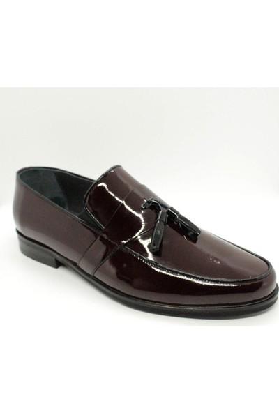 Serdar Yeşil Bordo Rugan Deri Püsküllü Erkek Klasik Ayakkabı