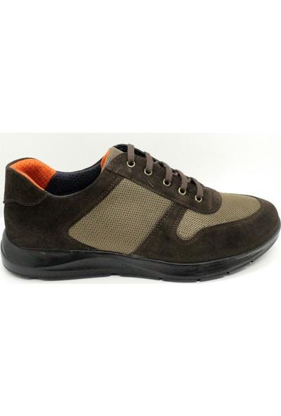 Serdar Yeşil Erkek Kahverengi Hakiki Süet Deri Comfort Günlük Ayakkabı