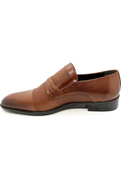 Serdar Yeşil Erkek Taba Makosen Hakiki Deri Klasik Ayakkabı