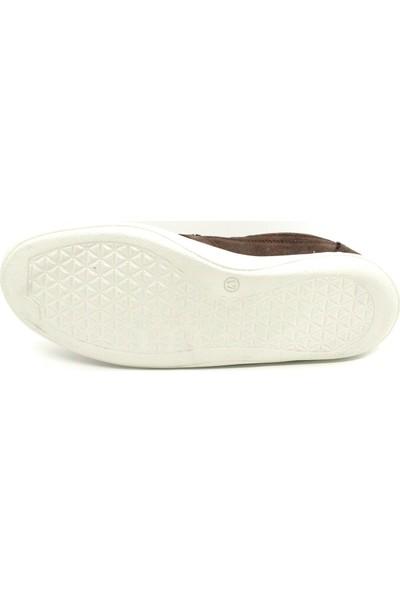 Serdar Yeşil Hakiki Deri Kahve Nubuk Bağcıksız Eva Taban Erkek Klasik Günlük Ayakkabı