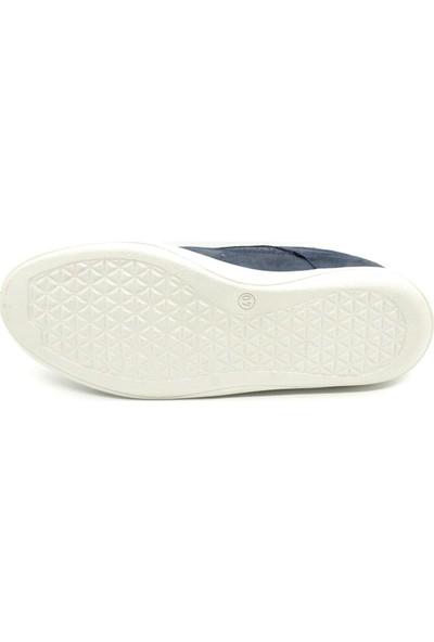 Serdar Yeşil Hakiki Deri Lacivert Nubuk Bağcıklı Eva Taban Erkek Klasik Günlük Ayakkabı