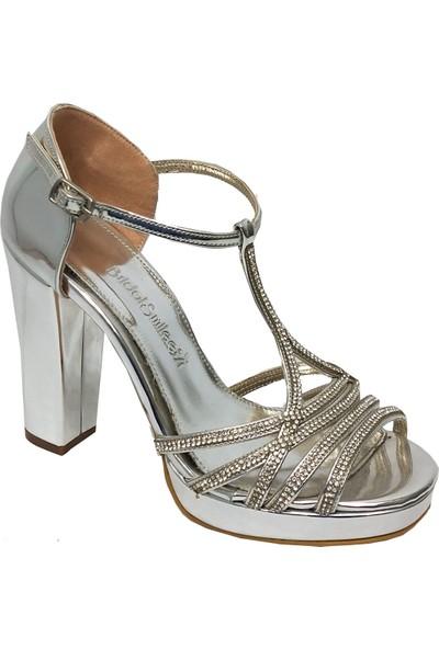 Smilee 4753 Abiye Platform Topuklu Sandalet