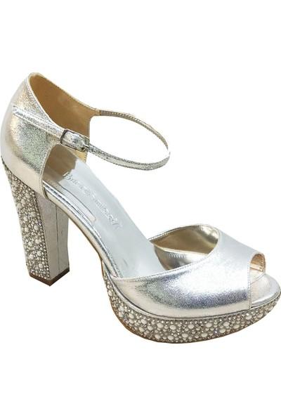 Smilee 4499 Platform Topuklu Kadın Abiye Ayakkabı